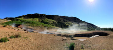 Reykjadalur in the summer time Stock Photos