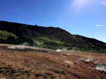 Reykjadalur in the summer time Royalty Free Stock Image