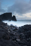 Reykjanes半岛冰岛峭壁  免版税库存图片