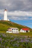 Reykjanes灯塔,冰岛 图库摄影