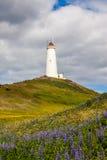 Reykjanes灯塔,冰岛 免版税库存照片