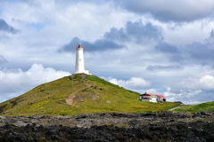 Reykjanes lighthouse Stock Images