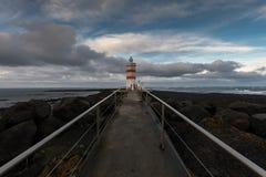 Reykjanesbaer latarnia morska Fotografia Royalty Free