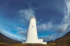 Reykjanesviti, el faro más viejo del ` s de Islandia en la península de Reykjanes Imagen de archivo