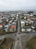 Reykjavic市Arial视图  免版税库存图片