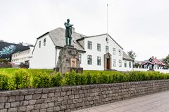 Statue of King Christian IX in Reykjavik city Royalty Free Stock Image