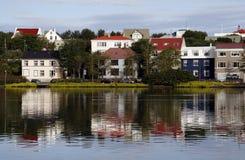 Reykjavik. Beautiful nordic colorful houses in Reykjavik - capital city of Iceland Royalty Free Stock Photo