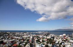 Reykjavik. Iceland Reykjavik city aerial seen from cathedral Stock Photo