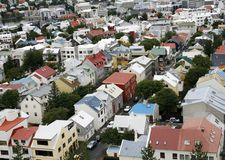 Reykjavik. Multicolered houses of reykjavik in Iceland Royalty Free Stock Image