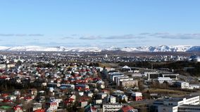 Reykjavik from above stock footage