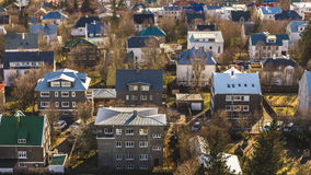 Reykjavik from above Royalty Free Stock Photos