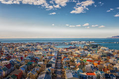 Reykjavik from above Royalty Free Stock Photo