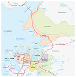 Reykjavik administrative map Royalty Free Stock Images