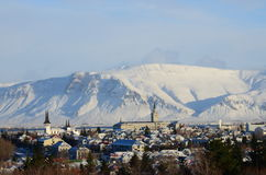Reykjavik-Ansicht Lizenzfreies Stockbild