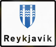 Reykjavik Boundary Sign In Iceland. A Reykjavik Municipal Boundary Sign In Iceland Royalty Free Stock Photo