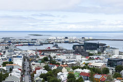 Reykjavik céntrico, Islandia Imagen de archivo libre de regalías
