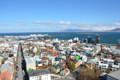 Reykjavik capital city on the Iceland Royalty Free Stock Images