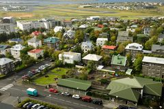 REYKJAVIK capital of Iceland. Aerial view of REYKJAVIK capital of Iceland Royalty Free Stock Photography