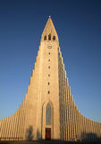 Reykjavik Cathedral. Iceland Reykjavik Cathedral in evening light Royalty Free Stock Photo