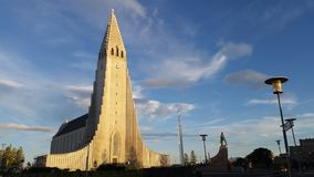 Reykjavik Cathedral royalty free stock images