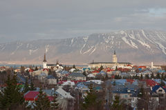 Reykjavik Centre Royalty Free Stock Photography
