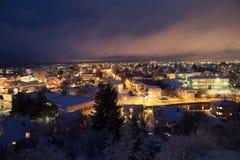 Reykjavik at christmas Royalty Free Stock Photography