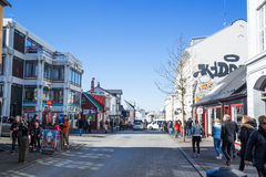 Reykjavik city with people in the streets Royalty Free Stock Photography