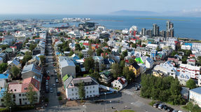 Reykjavik city. Top view of Reykjavik city Stock Photography