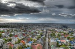 Reykjavik city. View from the castle in the Reykjavik, Iceland Stock Photography