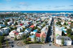 Reykjavik city, view from the top of Hallgrimskirkja church, Ice Royalty Free Stock Photos