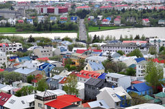 Reykjavik cityscape Stock Images