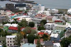 Reykjavik dall'aria 03 Fotografia Stock Libera da Diritti