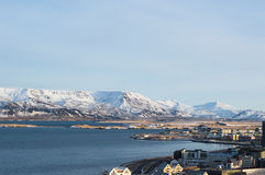 Reykjavik de cima de Foto de Stock Royalty Free