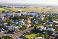 Reykjavik, de hoofdstad van IJsland Royalty-vrije Stock Foto's