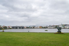 Reykjavik downtown with park, Iceland. Stock Photo