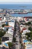 Reykjavik du centre, vue aérienne Images libres de droits