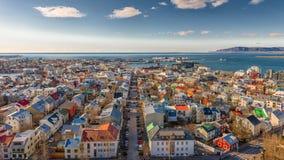Reykjavik från över Royaltyfri Fotografi