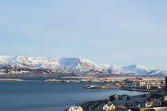 Reykjavik från över Royaltyfri Foto