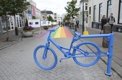 Reykjavik gata Royaltyfria Bilder