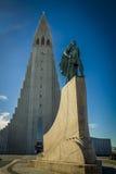 Reykjavik gränsmärken royaltyfria foton