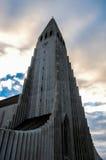 Reykjavik, HallgrÃmskirkja-Kathedrale Lizenzfreie Stockbilder