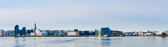 Reykjavik hamn, Island arkivbild