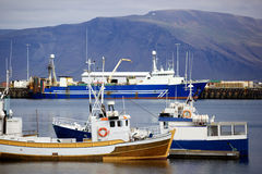 Reykjavik Harbor royalty free stock photos