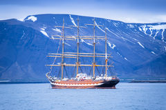 Reykjavik. Harbour Russian ship  Iceland Royalty Free Stock Photos