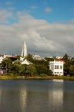Reykjavik, hoofdstad van IJsland Stock Foto's