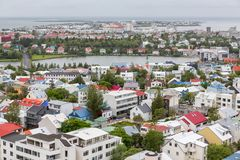 Reykjavik houses aerial view and lake, Iceland Stock Photography