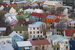 Reykjavik Houses, Iceland Royalty Free Stock Photo