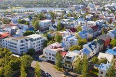 Reykjavik huvudstaden av Island Royaltyfri Bild