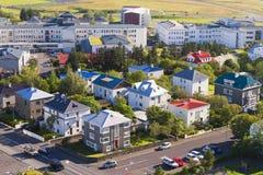 Reykjavik huvudstaden av Island Royaltyfria Foton