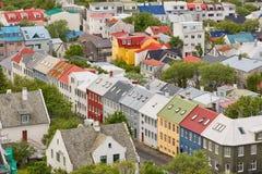 Reykjavik Iceland. Aerial view of Reykjavik, capital of Iceland Stock Image